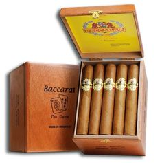 Baccarat Game Maduro is an old-world cigar manufactured by Oettinger Davidoff Group. cigar features handpicked Habano long fillers and a Mexican Dulce binder. Mild Cigars, Cuban Cigars, Cigars And Whiskey, Whisky, Cigar Shops, Cigar Bar, Cigars For Sale, Churchill Cigars, Cigar Smoking