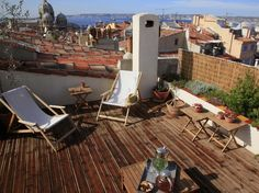 Rooftop terrace, never mind the view...