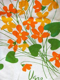 Vera Violet Bouquets Tablecloth by JoulesVintage, via Flickr