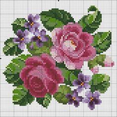 quilting like crazy Cross Stitching, Cross Stitch Embroidery, Hand Embroidery, Cross Stitch Patterns, Embroidery Patterns, Cross Stitch Rose, Cross Stitch Flowers, Pixel Crochet, Needlepoint