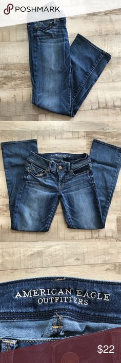AE Boot-Cut Jeans AE boot-cut jeans, size 4 Short! They are in nearly perfect condition, with no evident flaws! American Eagle Outfitters Jeans Boot Cut