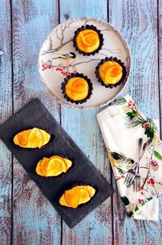Dark Chocolate Orange Tartlets