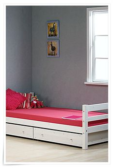 Bedroom Furnishing Inspiration With Cool Single Bed Frame Designs Delivered by in Sunday - May Teen Girls Bedroom Furniture Ideas Using White Wooden Single Bed Design With Pink Cover using and many other search topics in Bedroom category. Rustic Master Bedroom, Single Bedroom, Small Room Bedroom, Small Rooms, Bed Designs Latest, White Wooden Single Bed, Minimalist Bed Frame, Girls Bedroom Furniture, Bedroom Ideas