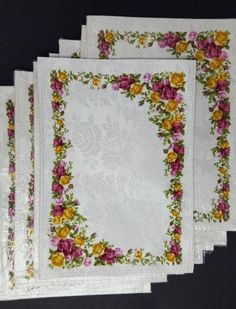 Royal Albert Old Country Roses Damask Placemats Lot of 8