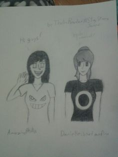 Genderbend Dan and Phil! Art request. Art Credit to @NoticeMeSenpi