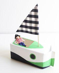Bateau à partir d'une brique de lait - Sail on! DIY Milk Carton Boats