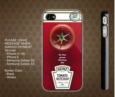 Heinz Tomato Ketchup Custom iPhone 4 / 4S case iPhone 5 case Samsung Galaxy S2 case Samsung Galaxy S3 case    $14.99 usd