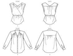 V1387 | Misses' Top | New Sewing Patterns | Vogue Patterns