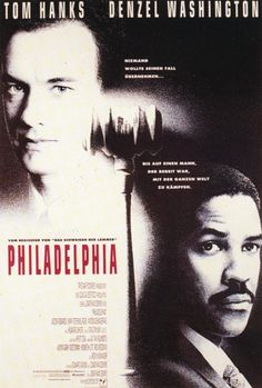 Tom Hanks and Denzel Washington give powerful performances in Jonathan Demme's 1993 film Philadelphia - one of the first movies to tackle AIDS and homosexuality. Denzel Washington, Film Movie, See Movie, Movie Cast, Tom Hanks Filme, Philadelphia Movie, Tom Hanks Movies, Film Mythique, Films Cinema