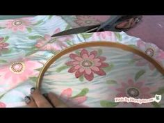 How to make embroidery hoop bulletin boards #craft #video