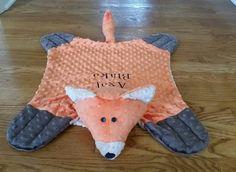 Brown+orange+and+tan+minky+fox+snuggle+blanket+by+SnuggleMePals