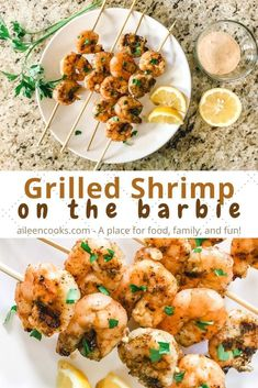This is going to be your new favorite grilling recipe! Tender shrimp topped with lemon juice, melted butter, and a slightly spicy seasoning mixture and the grilled to perfection! Thank you to Safeway for sponsoring this post. Shrimp On The Barbie, Remoulade Sauce, Shrimp Skewers, Creole Seasoning, Grilled Shrimp, 30 Minute Meals, Melted Butter, Grilling Recipes, Hot Sauce