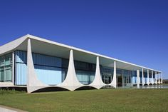 """Also known as the Palácio da Alvorada (""""Palace of Dawn""""), Brazil's Presidential Palace is the official residence of the country's president. The structure, whose design echoes the Supreme Federal Court, was completed in 1958."""