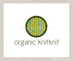 Custom Business Logo Design OOAK - Organic Blue and Green Leaves Knitting Logo By ReaniDesigns on Etsy. $95.00, via Etsy.