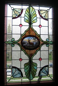 There are quite a few nice stained glass windows at the historic Lougheed House in Calgary, Alberta, Canada.