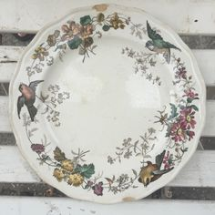 Antique French Plate *Free Shipping* by BrocanteTreasuresTX on Etsy https://www.etsy.com/listing/454783848/antique-french-plate-free-shipping