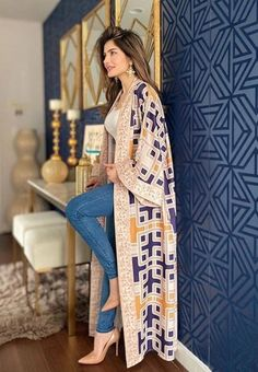Pakistani Fashion Casual, Abaya Fashion, Muslim Fashion, Kimono Fashion, Pakistani Outfits, Modest Fashion, Fashion Dresses, Estilo Fashion, Ideias Fashion