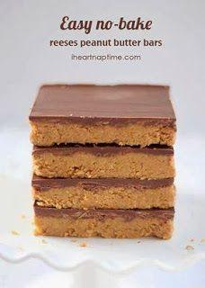 Reese's Peanut Butter No-Bake Bars
