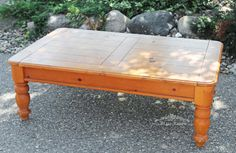 Pine Coffee Table Paint Redo Bliss-Ranch.com