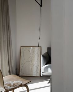 A sunny corner captured yesterday. The minimal art print from The Poster Club @theposterclub has found a new space. It was too good to keep all to myself in my office. Do your prints move around too or do they have a permanent home?!#nordicmood #theposterclub #abstractart #scandinavianliving #artprint Photo by Hege Morris / @hegeinfrance