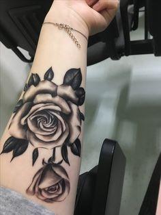 My first tattoo#tattoo#detail#inlove#rose#memorialtattoo