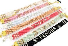 Name bracelet - friendship bracelet, beadloom bracelet, beaded bracelet, miyuki bracelet, personalised bracelet