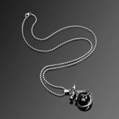 1 PC Boys Stylish Alloy Pendant Chain Punk Dragon Sword Wings Awesome Excellent