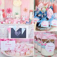 Pin for Later: 120 Kids' Birthday Party Themes to Celebrate Your Child's Big Day A Shabby-Chic Party Fit For a Princess Shabby Chic Birthday, Party Fiesta, 3rd Birthday Parties, Birthday Ideas, 15th Birthday, First Birthdays, Marie, Baby Shower, Princess Party