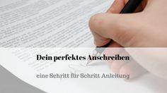 Schritt für Schritt zum perfekten Anschreiben