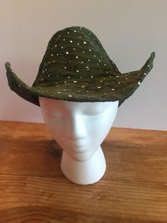 703f33fd08a Cowboy Hat Olive Army Green Rhinestones One Size Something Special Brand  Western