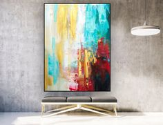 Original Abstract Painting on Canvas, Vertical Large Wall Canvas, Large Abstract Wall Art, Canvas Wall Art, Simple Canvas Paintings, Canvas Art Prints, Abstract Paintings, Art Paintings, Wall Paint Inspiration, Geometric Artwork