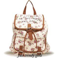floral backpack  Trendy backpacks for girls http://www.justtrendygirls.com/trendy-backpacks-for-girls/