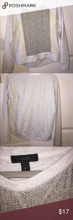 J.Crew Sweater Great J.Crew detailed Sweater! Barely worn, awesome condition! J. Crew Sweaters