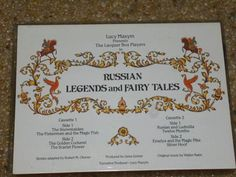 RUSSIAN LEGENDS & FAIRY TALES Lucy Maxym Cassettes presents Lacaquer Box…