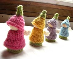 Knit flower fairies - want this pattern!