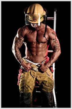 Sexy firefigher! Oh, my, my house is on fire!