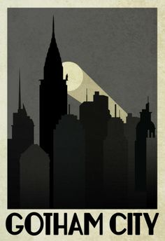 Gotham City Retro Travel Poster Poster at AllPosters.com