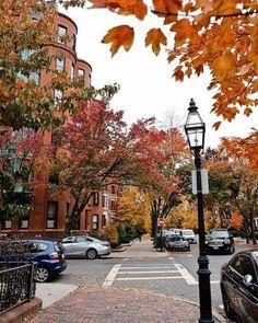 Boston Pictures, Fall Pictures, Boston Street, In Boston, Beacon Hill Boston, Boston Apartment, Boston Travel, Usa Cities, City Vibe