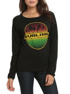 Black long-sleeved shirt with a Sublime palm tree logo.