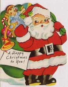 A Meri Card Die Cut Santa