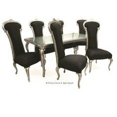 Dauphine Dining Set - Antiqued Silver Leaf  $7,024.00