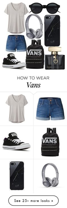 """Casual Look"" by mackenzieq on Polyvore featuring LE3NO, prAna, Converse, Vans, Sefton and Gucci"
