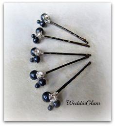 Ideas for bridesmaids' hair pins