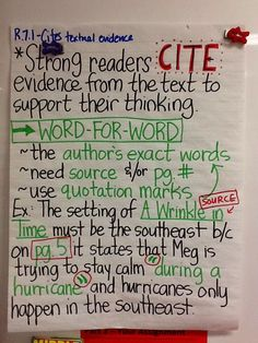 - Citing Textual Evidence: Word-for-Word & Paraphrased Support. With some revisions this would work. 6th Grade Reading, 4th Grade Writing, Middle School Writing, Middle School English, Teaching Writing, Teaching Ideas, Essay Writing, Fourth Grade, Citing Textual Evidence