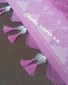 Needle lace, which is one of the most preferred traditional embroidery, continues to be transferred Saree Tassels, Needle Lace, Cheese Cloth, Diy And Crafts, Embroidery, Design, Amigurumi, Tejidos, Needlepoint