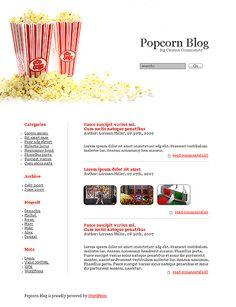 Popcorn Blog WordPress Themes by Ares