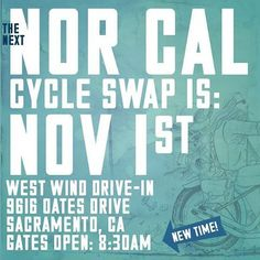 Save the Date: Nor Cal Cycle Swap Meet Nov.1, 2015. Presented by @biltwell