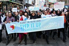 Step it up for gender equality march.  Nazioarteko emakumeen eguna 2016/03/08