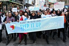 """The 2016 theme for International Women's Day is """"Planet 50-50 by 2030: Step It Up for Gender Equality"""". The United Nations observance on 8 March will reflect on how to accelerate the 2030 Agenda, building momentum for the effective implementation of the new Sustainable Development Goals. It will equally focus on new commitments under UN Women's Step It Up initiative, and other existing commitments on gender equality, women's empowerment and women's human rights."""