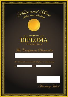 """Diploma certificate design for """"Hermes House of Hair"""" Download Free Movies Online, Certificate Design, Glamour Beauty, Bridal Blouse Designs, Beauty Care, Hairdresser, Leadership, Salons"""